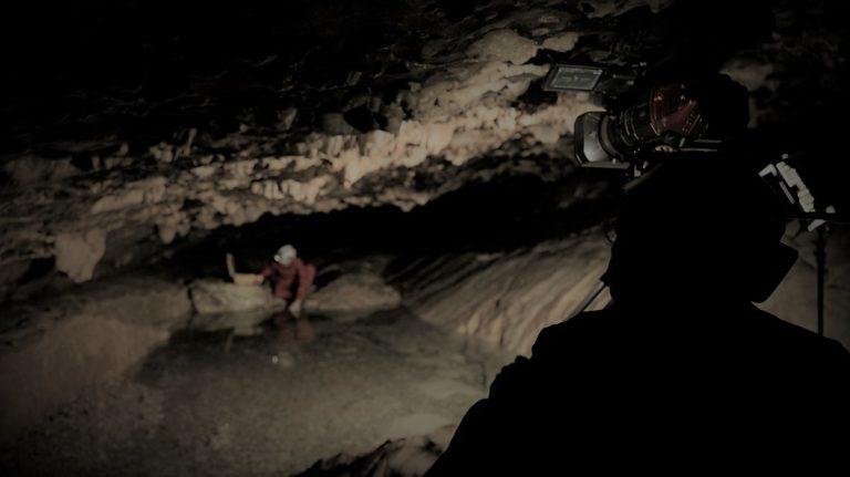 Tournage Onset grotte Prérouge 1