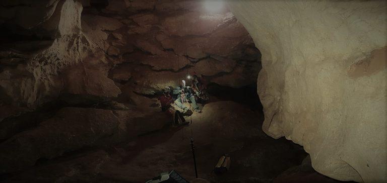 Tournage Onset grotte St Marce d'Ardèche 1